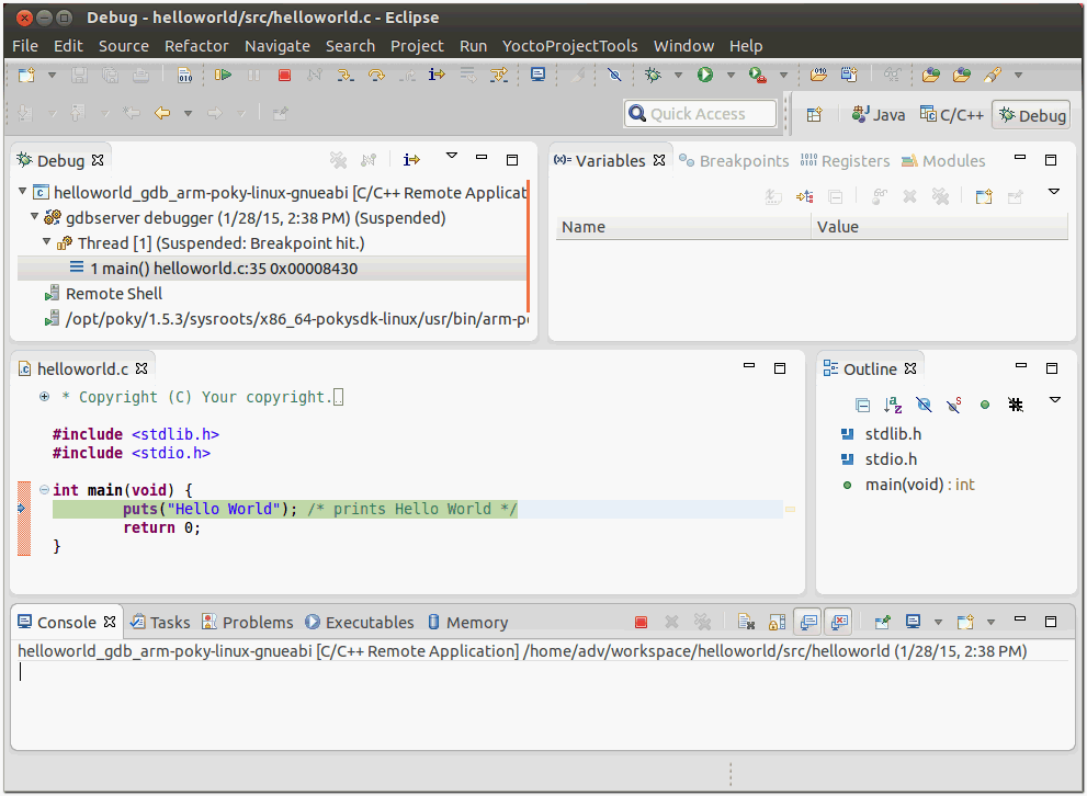 Setting-up Eclipse Plug-in to cross compile for iMX6 series