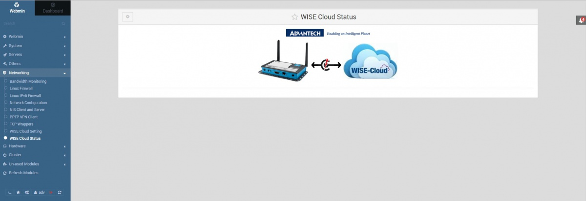Webmin wisecloud status disconnect 1.831.jpg