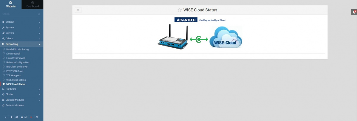 Webmin wisecloud status connected 1.831.jpg